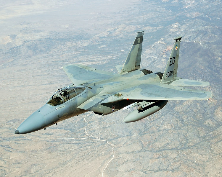F-15C over the Nellis Range complex during Red Flag 06.1