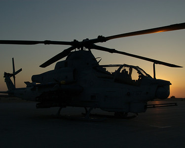 AH-1Z at sunset aboard MCAS Yuma, AZ