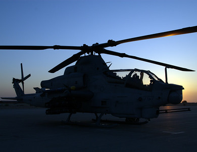 AH-1Z before a night flight from MCAS Yuma, AZ, April 2008