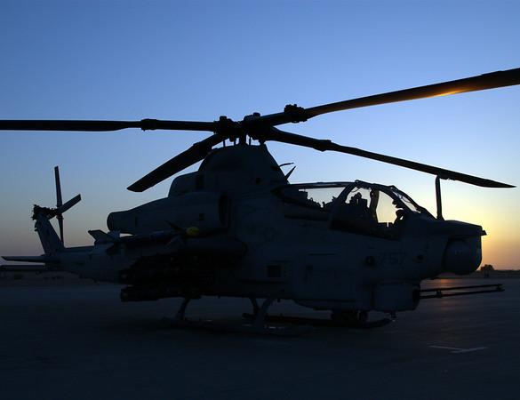 AH-1Z before a night flight from MCAS Yuma, AZ, April 2008