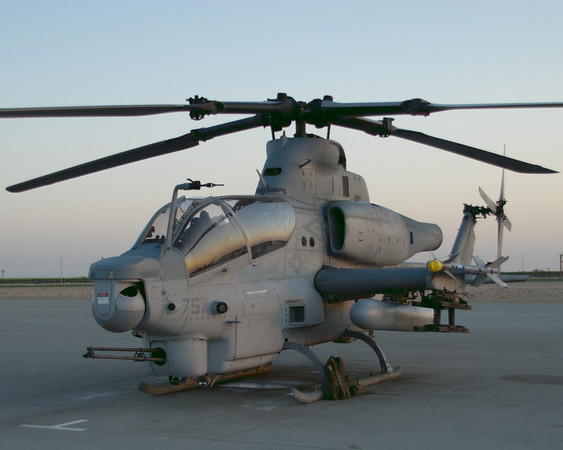 AH-1Z prepared for a night launch from MCAS Yuma in April 2008.