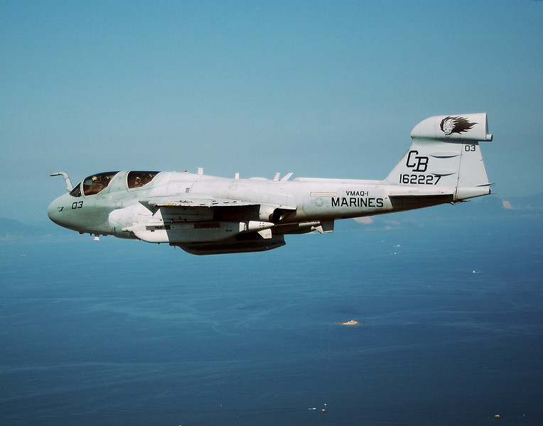 EA-6B Prowler from VMAQ-1 over  Japan