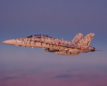 """FA-18D From the """"Bengals"""" of VMFA(AW)-224 returns to base after a mission during WTI 1-12 in Yuma, AZ."""