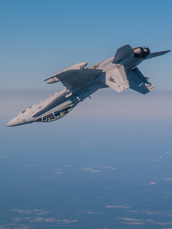An F/A-18D from the Hawks of VMFA(AW)-533 maneuvers in the Bulldog Military Operating Area.
