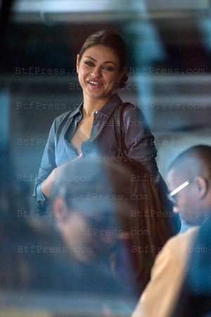 "Mila Kunis during the set of "" Friends with Benefits "" co-star Justin Timberlake, in LAX airport,California on September 14, 2010."