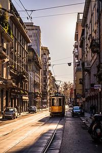 Tram in Milan.