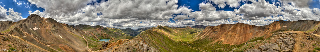 I think the best views over all are from California pass. Just incredible.  360 HDR Panorama shot.