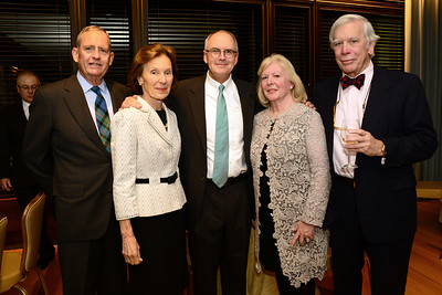 John D. Lord, Marjory Nash Lord, Nathaniel Philbrick, NEHGS Trustee Nancy Clay Webster, and John Webster