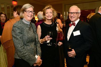 NEHGS member Elizabeth B. Johnson, NEHGS Councilor Deborah L. Hale, and NEHGS member Raffi Berberian