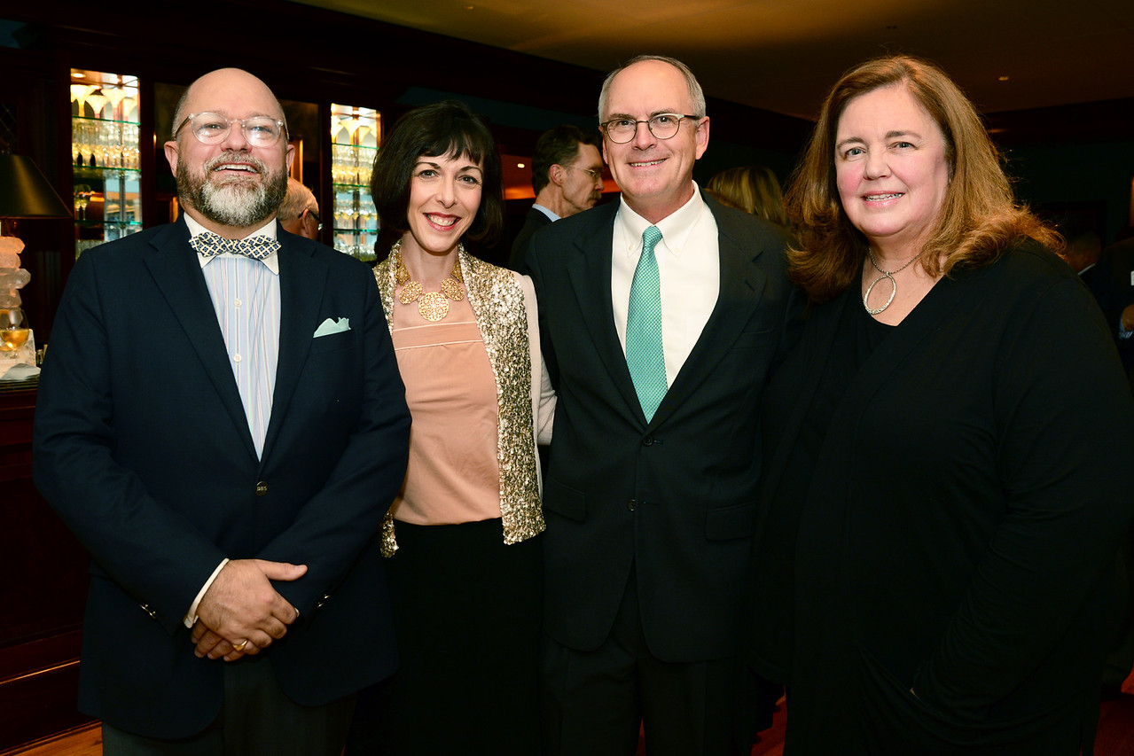 Brenton Simons with Elizabeth E. Barker, Director of the Boston Athenaeum, guest of honor Nathaniel Philbrick, and Ellie Donovan, Executive Director of Plimoth Plantation.