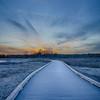 Walking the Boardwalk at sunset