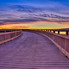 Boardwalk at sunrise