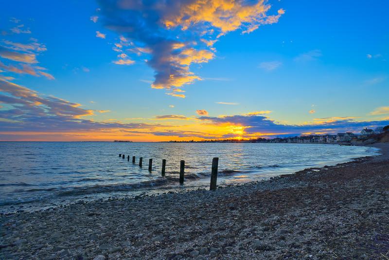 Sunset as seen from Point Beach