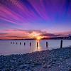 Sunset in a shot creative