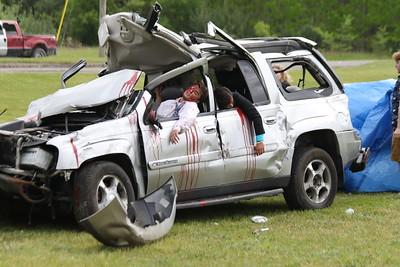 Milford HS Mock Car Crash 2017