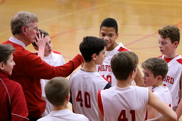 7th grade B boys basketball vs HCSMA 1-30-18