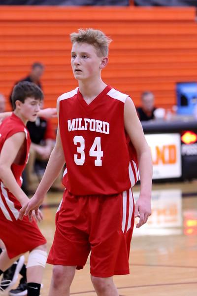 8th grade boys basketball vs Loveland 1-31-18