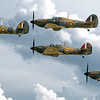 4 Hurricanes in close formation. By David stoddart