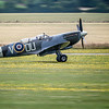 The 2 seater Grace Spitfire landing at Duxford.