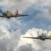 Hawker Sea Hurricane 1B Z7015 and Hawker Hurricane R4118 Flying together at Shuttleworth 2017. By David Stoddart