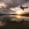 Supermarine Seafire LF III G-BUAR Low Pass at Sunset. By David Stoddart