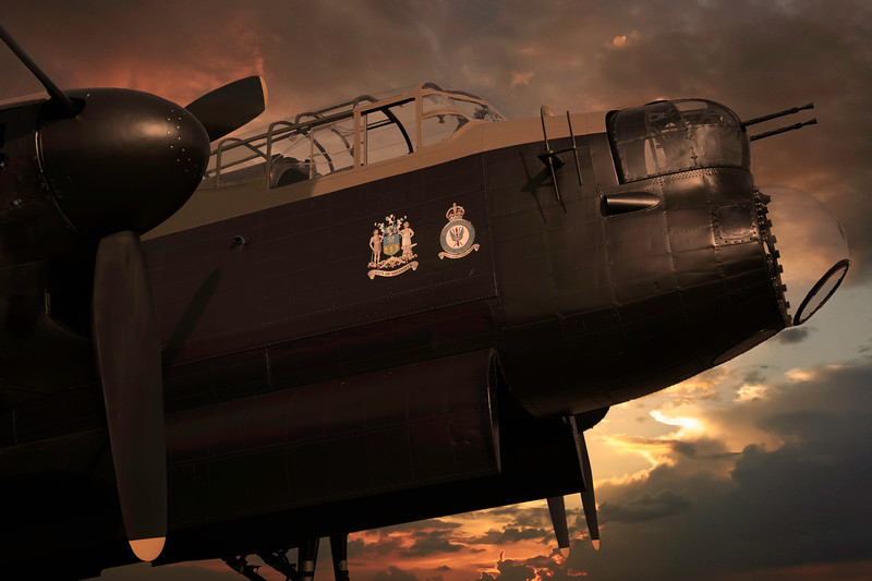 "Lancaster ""Just Jane"" Bomber Command ""Strike Hard Strike Sure"" By David Stoddart"