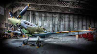 a spitfire in for repairs