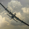 BBMF Lancaster Bomber PA474 Head On and Bomb Bay Open! By David Stoddart