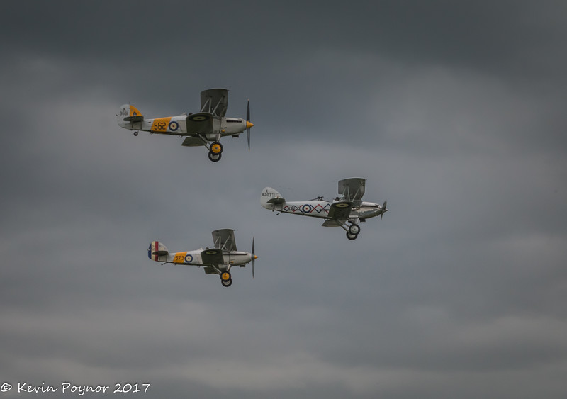 Hawker Demon in the lead flanked by 2 Hawker Nimrods