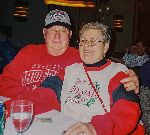 Marge & Dave Rook of Franklin Post 205 at Department Conference party donated back their winnings from the Homeless Committees 1st 50/50 raffel.