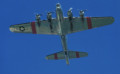 B17 air show fly over.