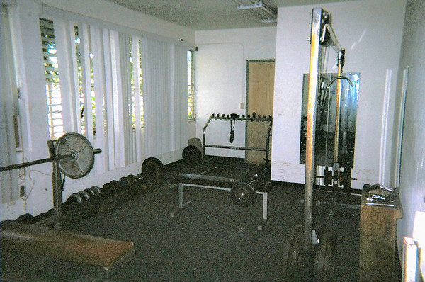 A weight & exercise area is located on the ground floor of the barracks.
