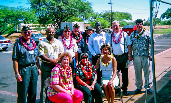 Legionnaire's All: Delegates on tour of the US VETS program in Hawaii.