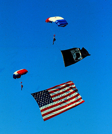 U S & POW flag jumpers