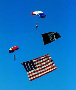 U S & POW flag jumpers