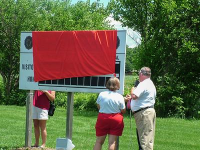 Softball Field dedication in memory of Frank Threalkeld 2004