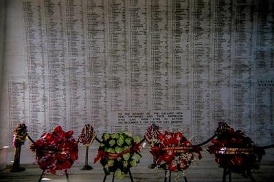 Arazona memorial wall