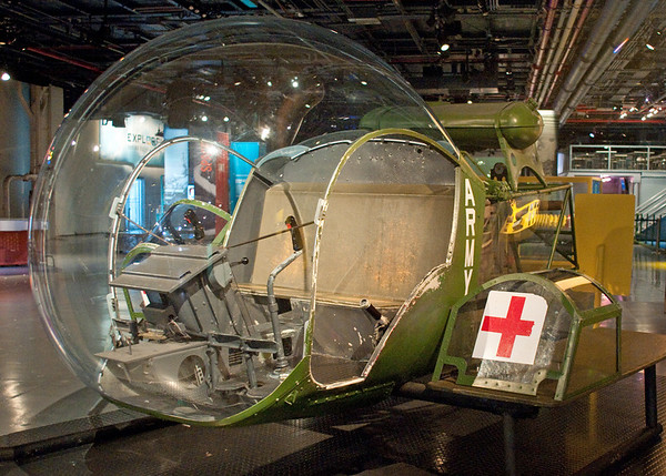 "Korean War era helicopter that was used in the movie ""M.A.S.H.""  It is an exhibit on the hangar deck of the U.S.S. Intrepid Sea, Air & Space Museum in New York."