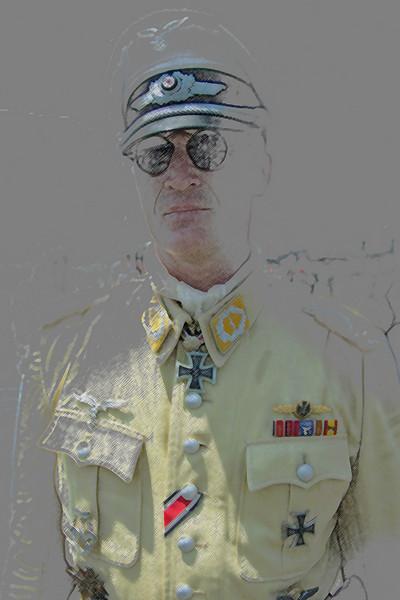 Re-enactor as World War II Luftwaffe pilot at 2008 Reading Air Show.