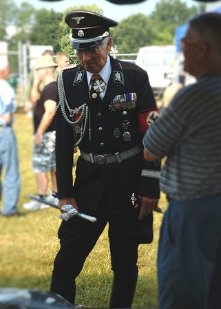 Allgemeine SS re-enactor at 2007 Reading Air Show in Pennsylvania.