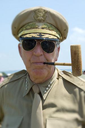 Gen. Douglas MacArthur re-enactor at 2008 World War II weekend at Mid-Atlantic Air Museum in Reading, Pennsylvania