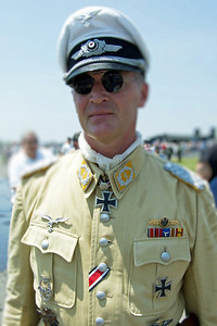 Luftwaffe re-enactor at 2008 World War II weekend at Mid-Atlantic Air Museum in Reading, Pennsylvania