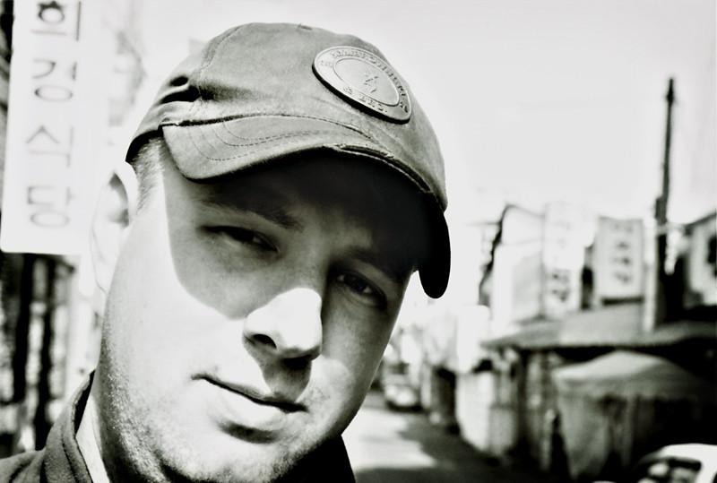 Self-photo taken in 2007 at Osan AB, ROK.