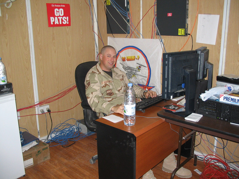 Deployed work center at Balad, Iraq, 2005.