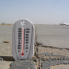 Maxed out thermometer on the tarmac, Balad, Iraq in 2005.