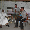 Smoking the hookah with some locals in Kuwait City, Kuwait, 2002.