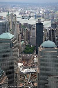 Flyover above Ground Zero.  May 2008.