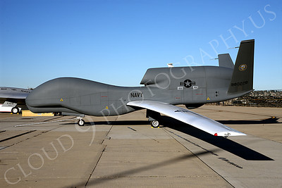 BAMS-D-USN 00004 A static US Navy UAV BAMS-D Global Hawk at a Naval Aviation Centennial airshow, by Peter J Mancus