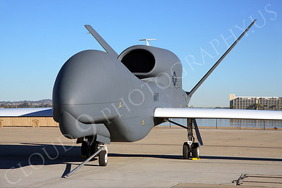 BAMS-D-USN 00002 A static US Navy UAV BAMS-D Global Hawk at a Naval Aviation Centennial airshow, by Peter J Mancus