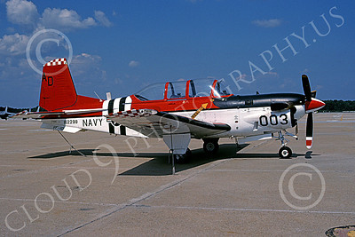 T-34USN 00002 A colorful static Beech T-34C Mentor USN 162200 AD code NAS Oceana 8-1997 military airplane picture by Chris Chipperfield